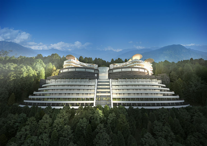 Sikkim butterfly hotel casino international design group for Landscape architects in india